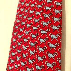 Vineyard Vines Red Christmas Tie